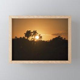 Sunset Palm Framed Mini Art Print