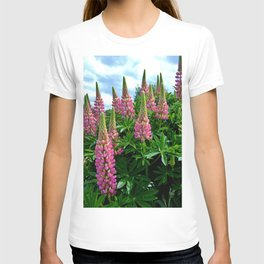 Rose Lupins in the Garden T-shirt