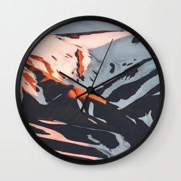 PNW Glacier Hike Wall Clock