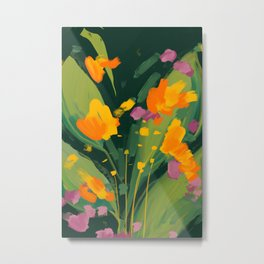 Abstract Floral Evening Metal Print