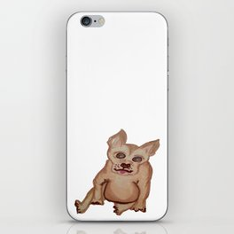 Dog with pointy ears iPhone Skin