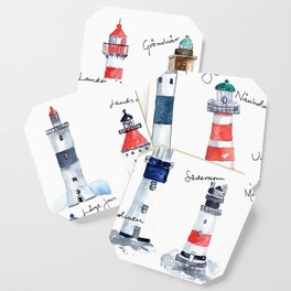 Swedish lighthouses Coaster