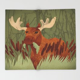 Moose Munch Throw Blanket