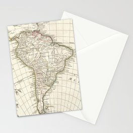 Vintage Map of South America (1762) Stationery Cards
