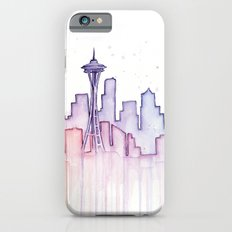 Seattle Skyline Watercolor iPhone 6s Slim Case