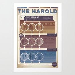 Improv Forms: The Harold (warm tones) Art Print
