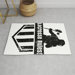 Lacrosse Rules! LAX Sport G.O.A.T Lacrosse Player Lacrosse Game ReLAX Steeze Rug
