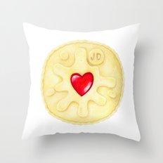 Jammie Dodger, Biscuit Throw Pillow