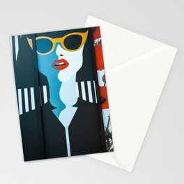 Girl with sunglasses Stationery Cards