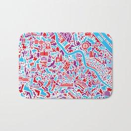 Vienna City Map Poster Bath Mat