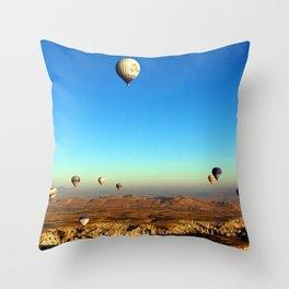 Hot Air Balloons (Color) Throw Pillow
