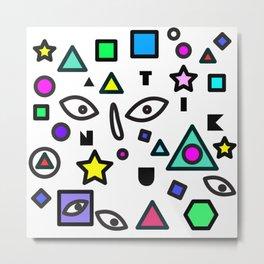 Random Geometric space  Metal Print