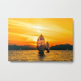 Sun regatta Metal Print
