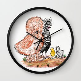 A bunch of Chickens Wall Clock