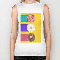 donuts Biker Tanks featuring Donuts by Danny Ivan