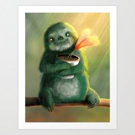 Cute Sloth Art Print