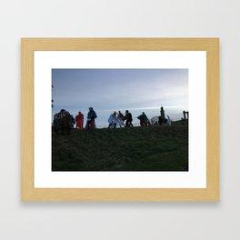 pagan hilltop dance Framed Art Print