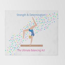 Gymnastics - Ultimate Balancing Act (on Balance Beam) Throw Blanket