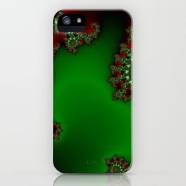 Mandelbrot - Green iPhone Case