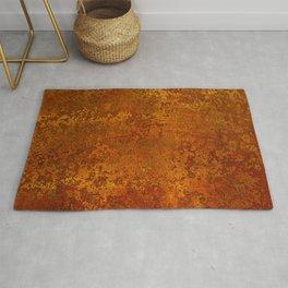 Vintage Copper Rust, Minimalist Art Rug