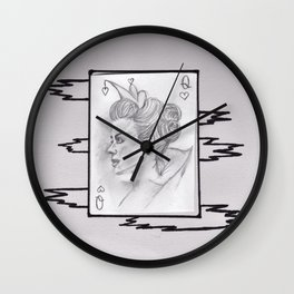 Queen of My Hanging Heart Wall Clock