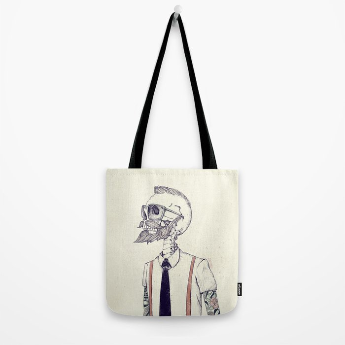 The Gentleman becomes a Hipster  Tote Bag