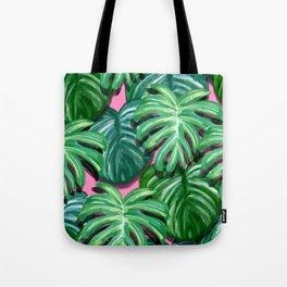 Tropical Palm Leaves Tote Bag