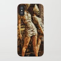silent hill iPhone & iPod Cases featuring Deadly Duo Silent Hill Nurses by Joe Misrasi