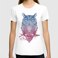 warrior T-shirts featuring Evening Warrior Owl by Rachel Caldwell