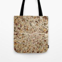 Dublin Ireland City Map Tote Bag