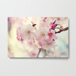 cotton candy flowers Metal Print