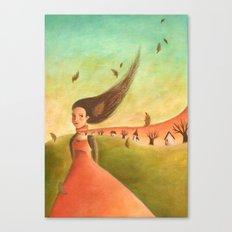 Autumn Lady Canvas Print