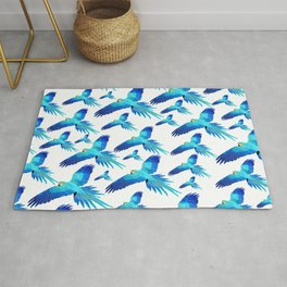 Blue flight Rug