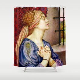 "Evelyn De Morgan ""The Prisoner"" Shower Curtain"