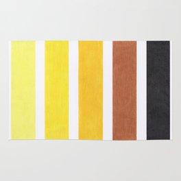 Colorful Yellow Geometric Pattern Rug