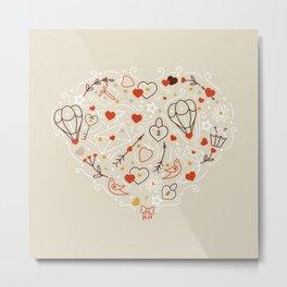 Valentines line art Metal Print