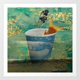 Fishing Frenzy Art Print