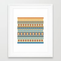 ethnic Framed Art Prints featuring ethnic by Kozza