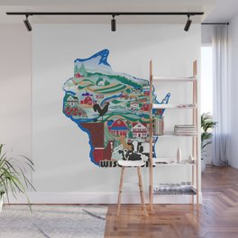 Wisconsin Country Sampler Wall Mural