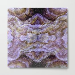 Abstract Mineral Amethyst Crystal Texture Metal Print
