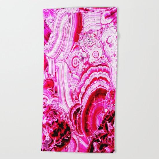Malachite Pink Beach Towel