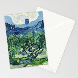 Tardis Flying Tree Stationery Cards