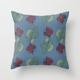 beets pattern Throw Pillow