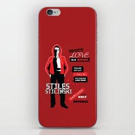 Stiles Stilinski Quotes Teen Wolf iPhone Skin