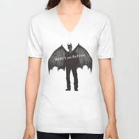 dean winchester V-neck T-shirts featuring  Dean Winchester, demon Dean  by  Marina Teyya