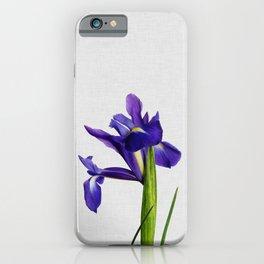 Iris Still Life, Flower Photography iPhone Case