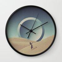 rebel Wall Clocks featuring Rebel by Douglas Hale