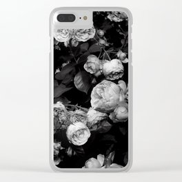 Roses are black and white Clear iPhone Case