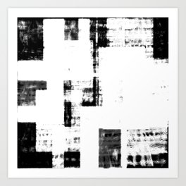 Black & White Abstract Series ~ 4 Art Print