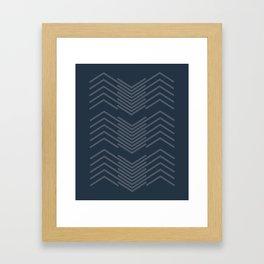 Blue Zags Framed Art Print